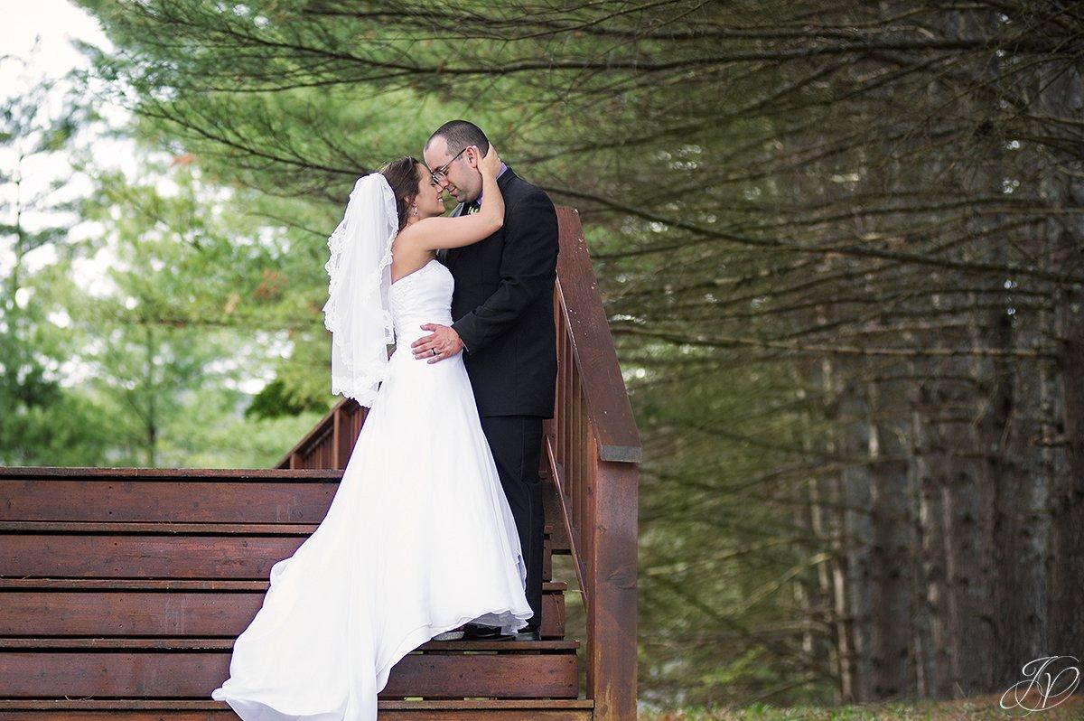 romantic adirondack bride and groom photo
