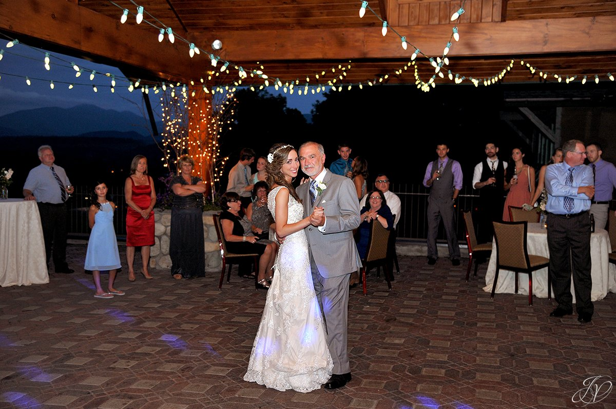 father daughter dance at reception lake placid golf club