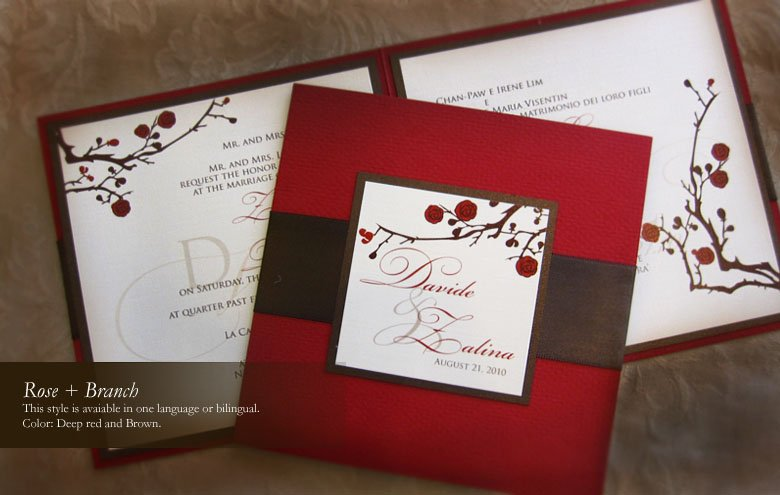 Multi Language Wedding Invitations – Chinese English Wedding Invitations