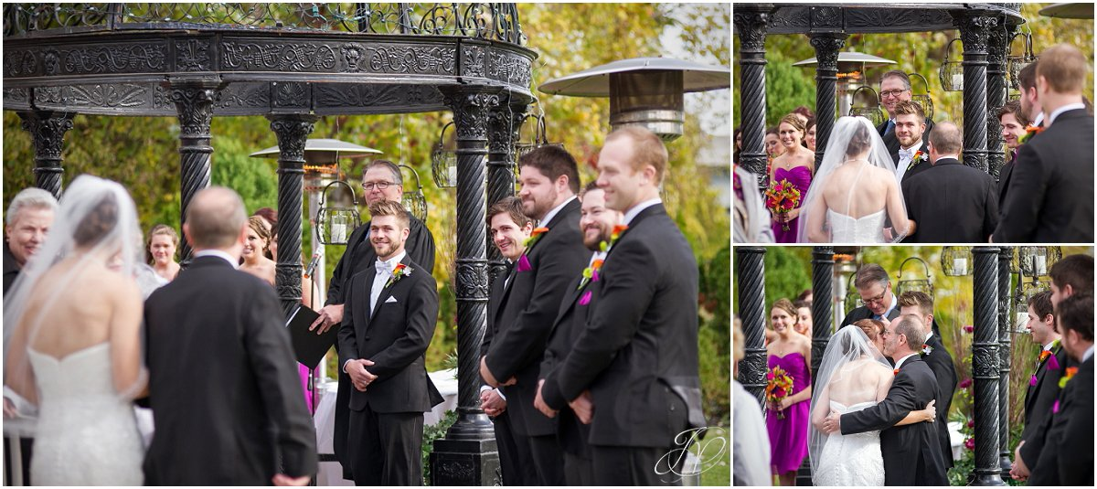 groom seeing bride for the first time during ceremony glen sanders mansion wedding
