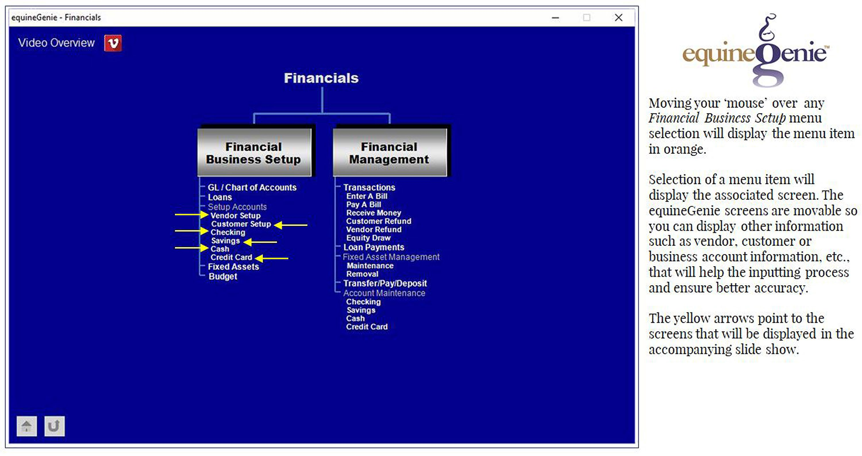 Financial info | Equine Genie | Horse Business Management Software