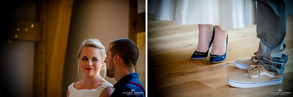 Wedding vows at The Mill Barns Aveley