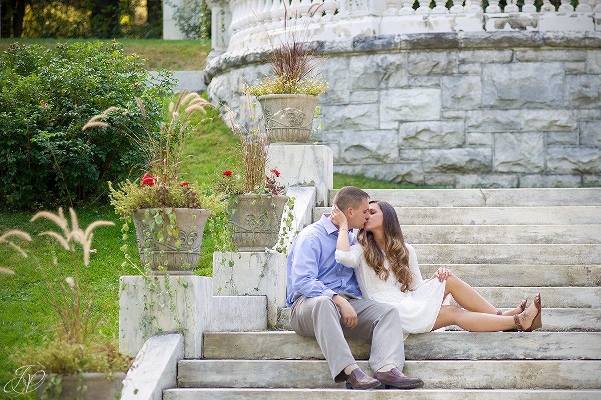 engagement photos in yaddo gardens