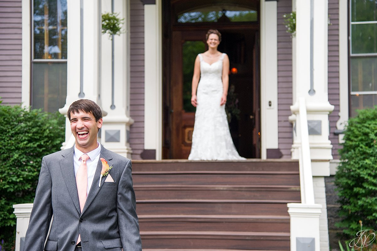 first look photos albany wedding photographer