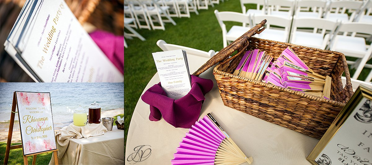 wedding ceremony details at Inn at erlowest lake george