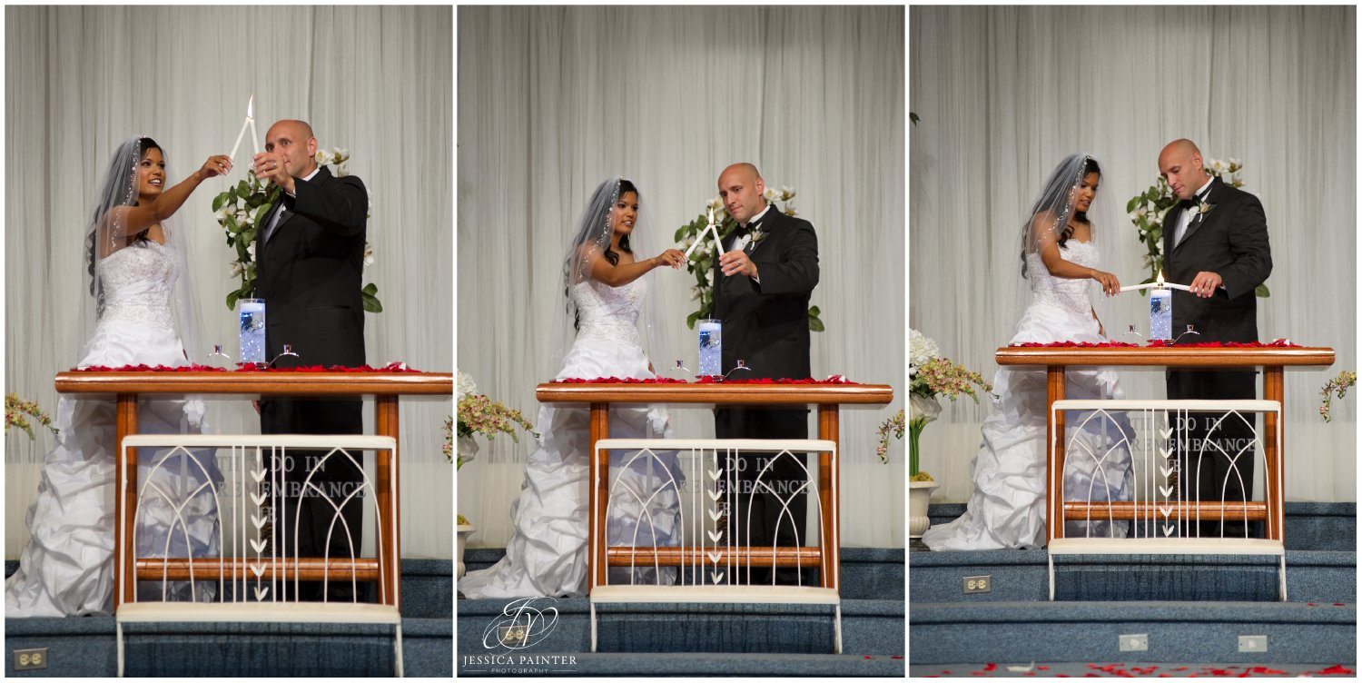 albany wedding, schenectady wedding, bride and groom candle lighting ceremony, unity candles