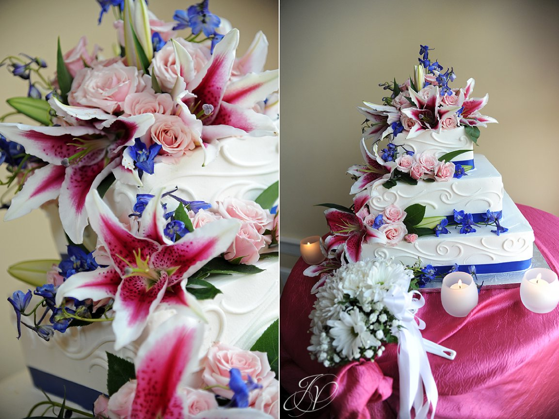 reception detail photos, Waters Edge Lighthouse, schenectady rose garden, Schenectady Wedding Photographer, wedding cake