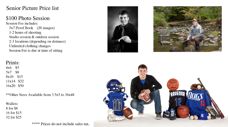 Chris Moe Photography - Senior Portrait Pricing
