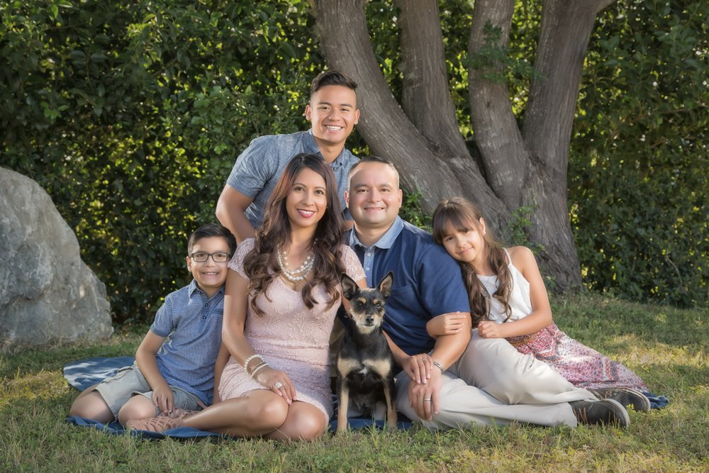 San Antonio family portrait in local Texas location