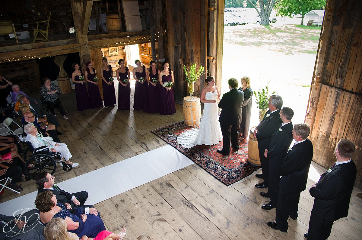 barn ceremony photo, wedding at mabee Farms, mabee farms historic site, Schenectady Wedding Photographer, Key Hall Proctors reception