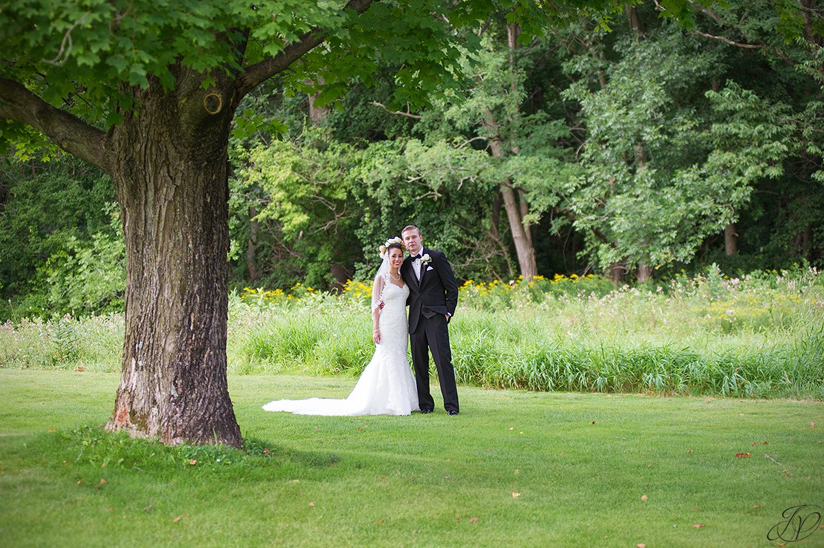 bride and groom at normanside country club