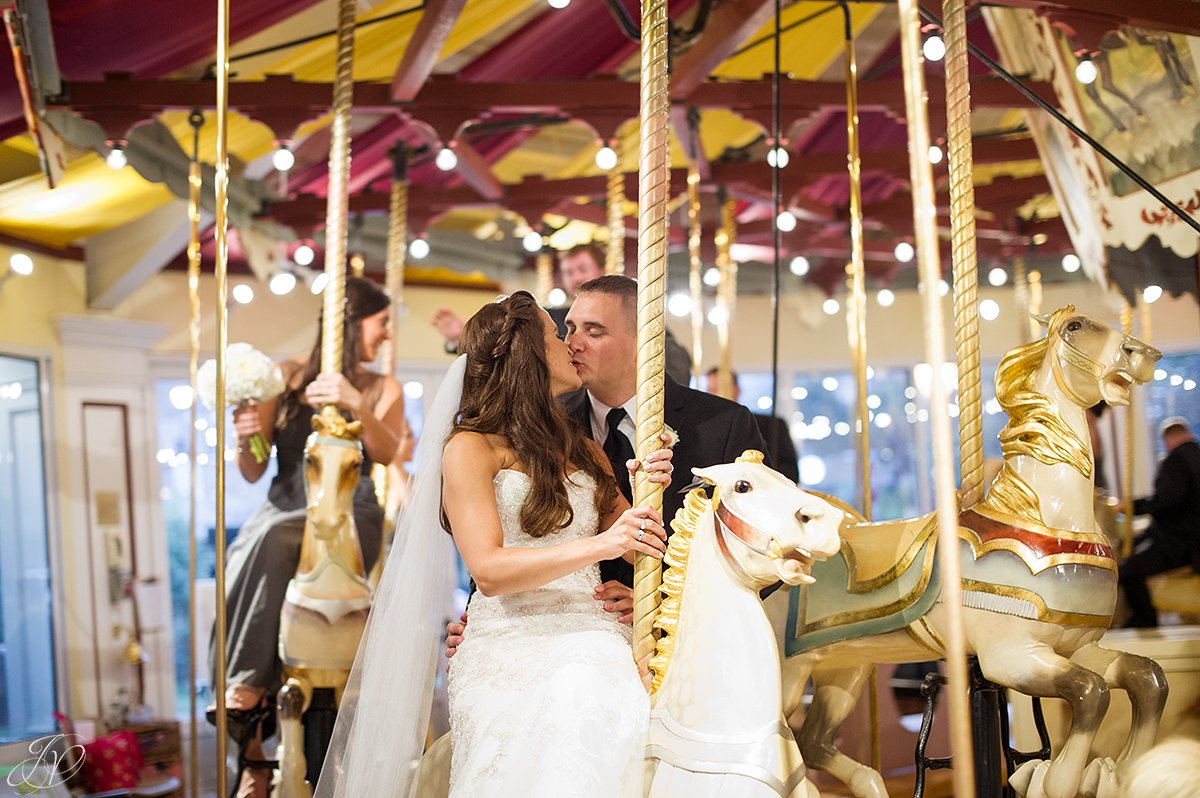 bride and groom carousel congress park
