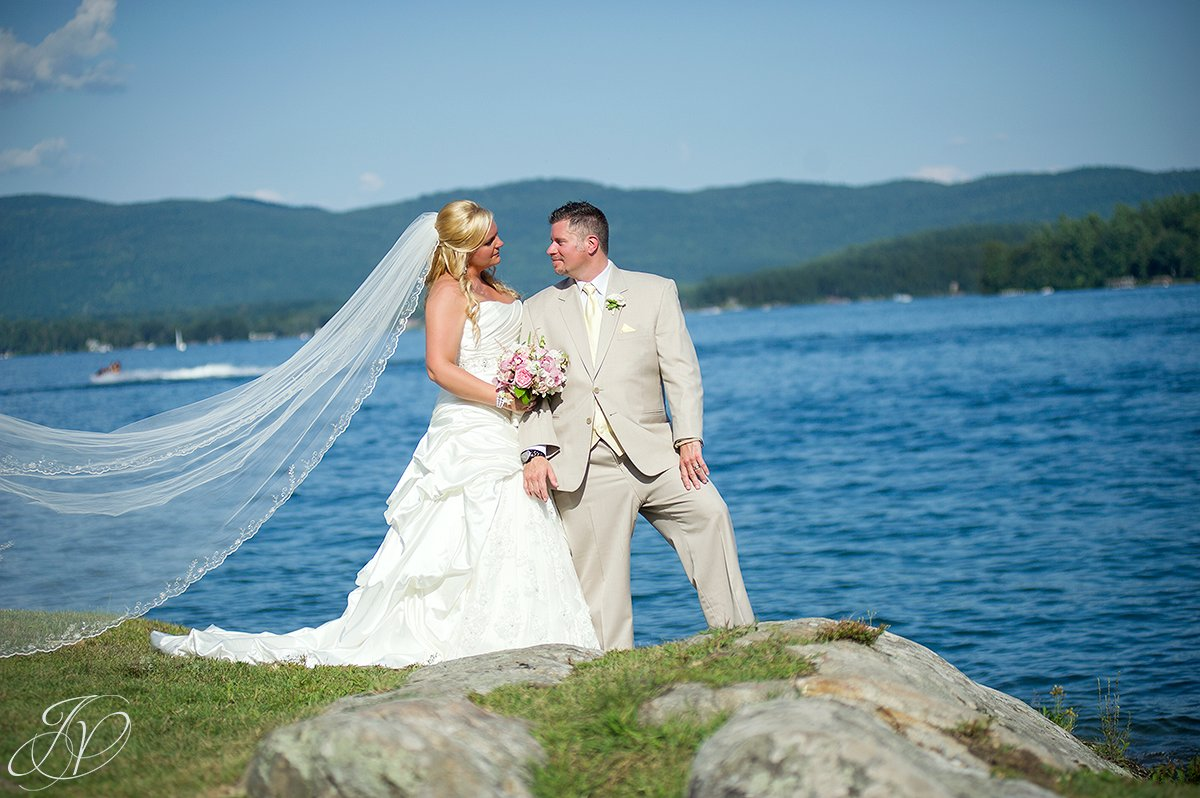 bride and groom lake george portrait photo, Inn at Erlowest wedding, Inn at Erlowest reception, Lake George Wedding Photographer