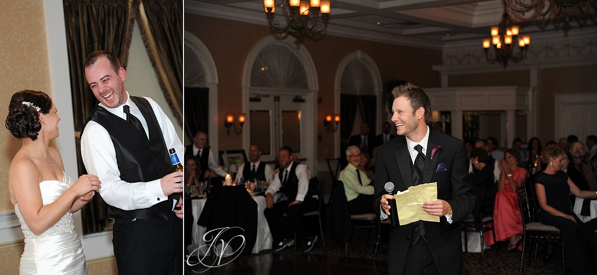 best man speech photo, wedding party dancing, The Glen Sanders Mansion, Albany Wedding Photographer, reception hall photo