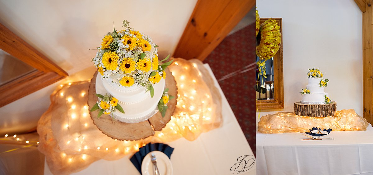 reception details at ceremony Timberlodge at Arrowhead Golf Club
