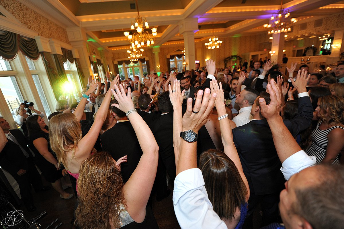 wedding party dance at reception