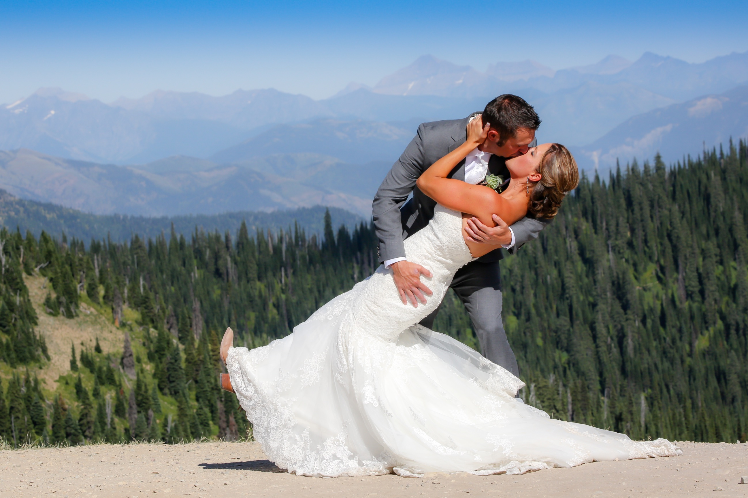 adventure destination wedding at whitefish mountain resort
