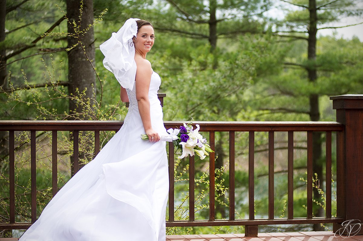 photo of a bride in the adirondacks