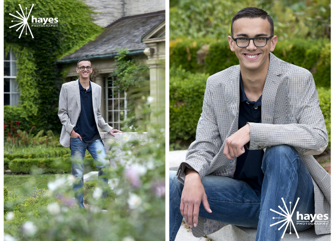 George Eastman Museum, senior pictures, senior portraits, Hayes Photography, outdoor photography, senior boy, location portraits, Rochester, NY