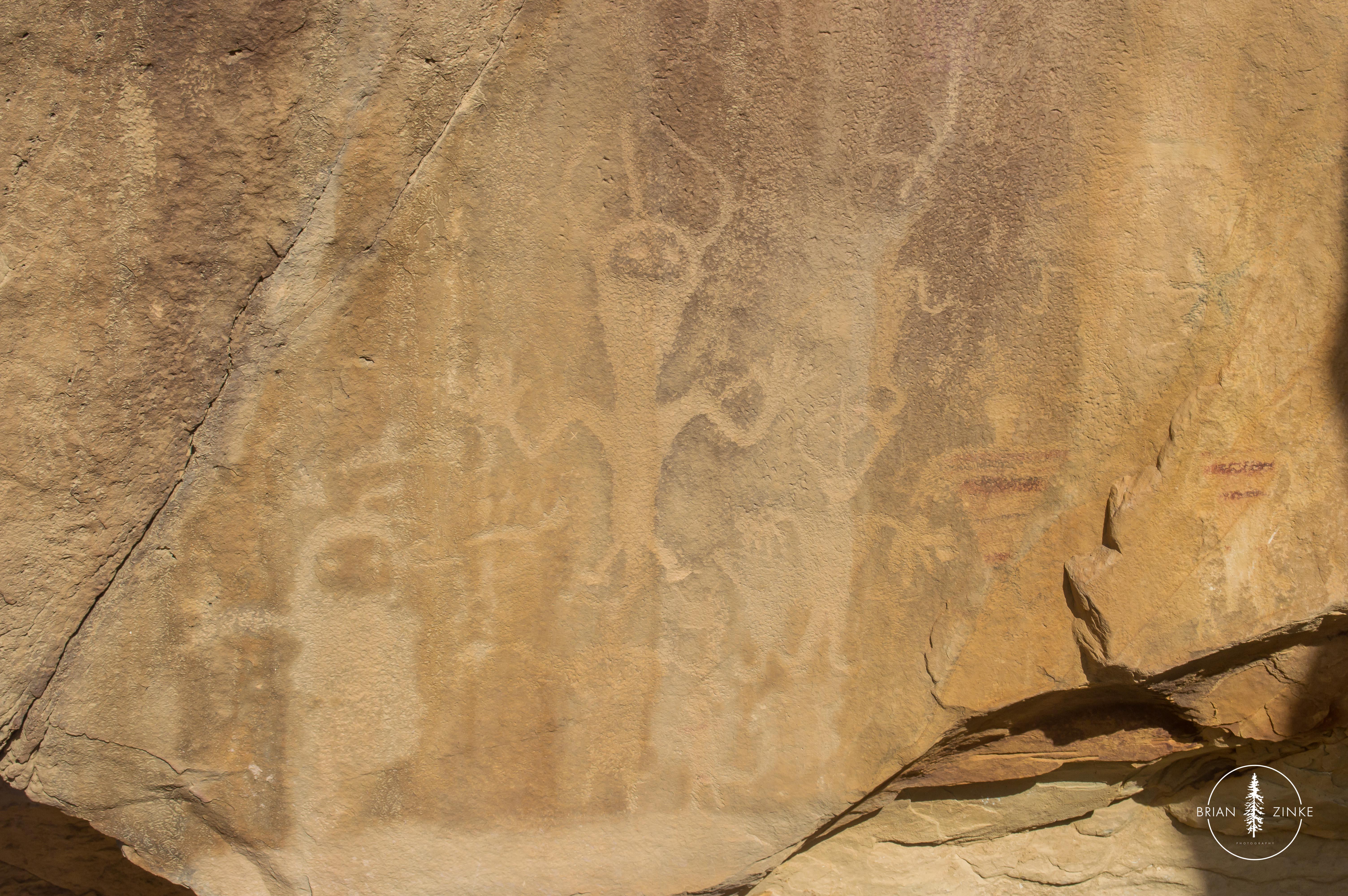 Swelter Shelter, petroglyphs, pictographs, Dinosaur National Monument, Vernal, Utah