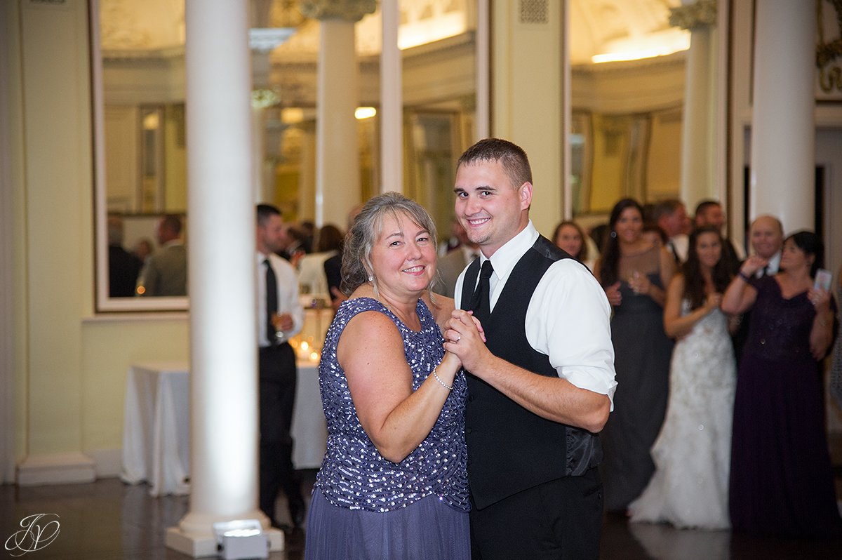 mother son dance at reception canfield casino