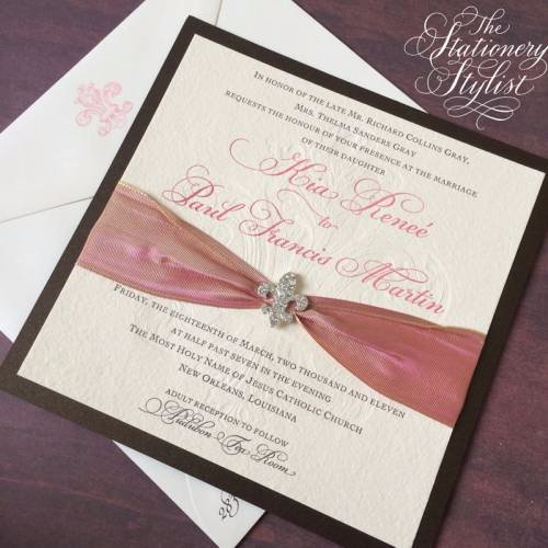 stationery stylist of new orleans - New Orleans Wedding Invitations
