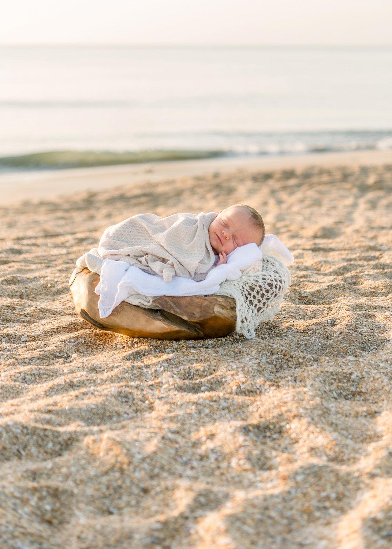 peacefully sleeping baby boy, baby sleeping on Ponte Vedra Beach