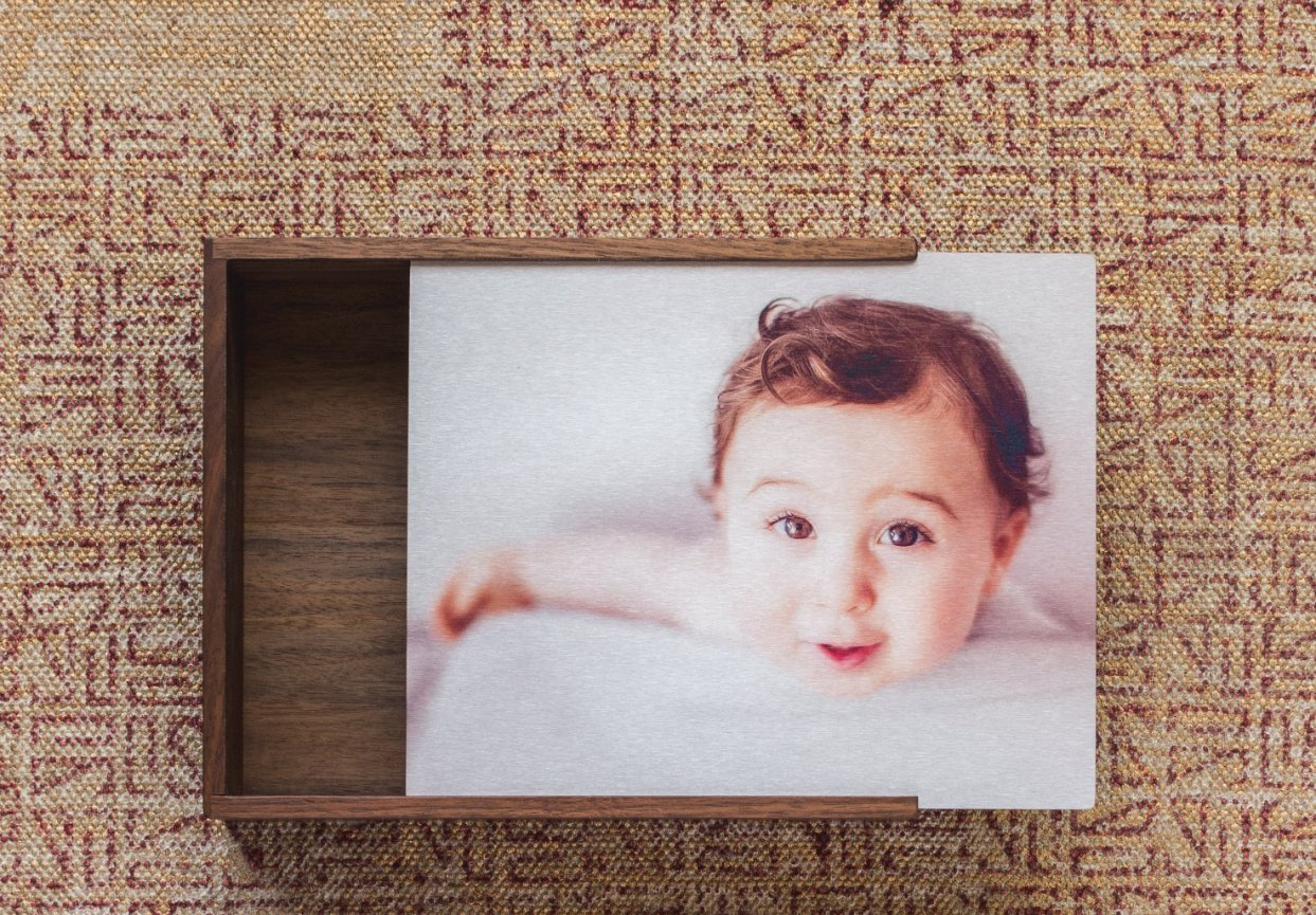 moroccan tile rug, print image boxes, Miller's Professional Imaging wood print box, baby boy